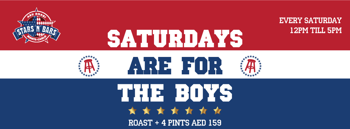 Saturdays Are For Boys @ Stars 'N' Bars