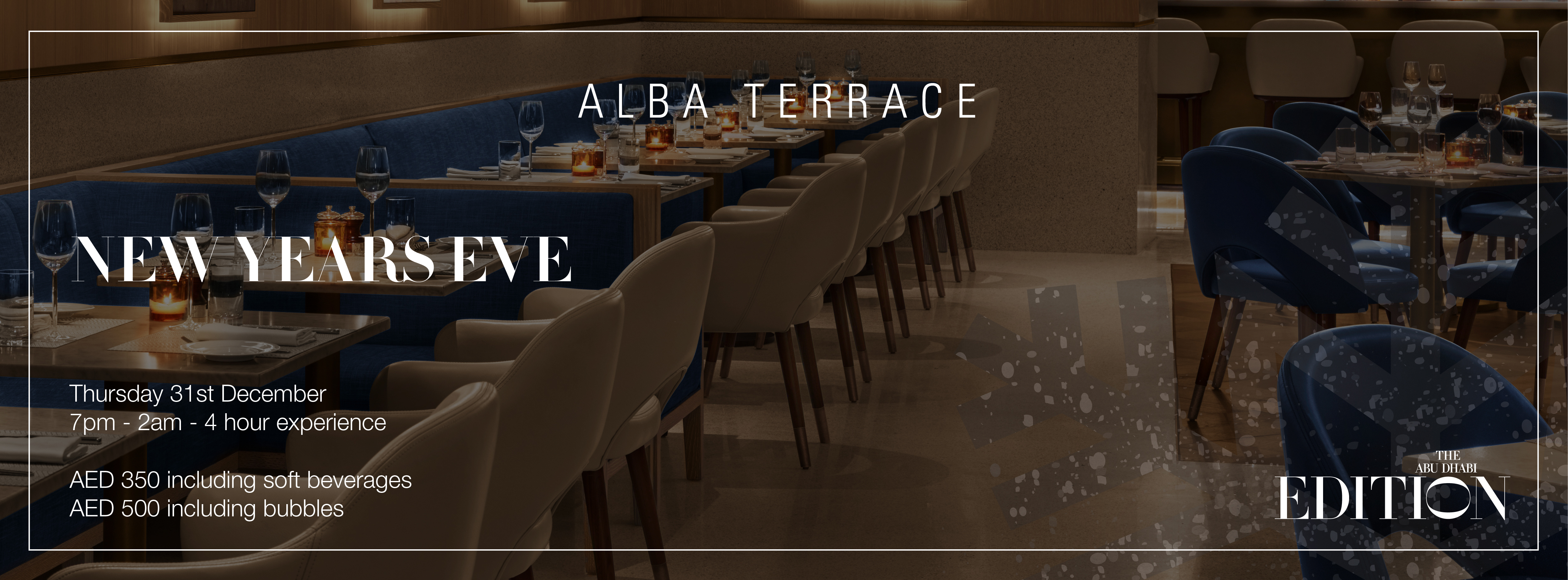 New Year's Eve @ Alba Terrace