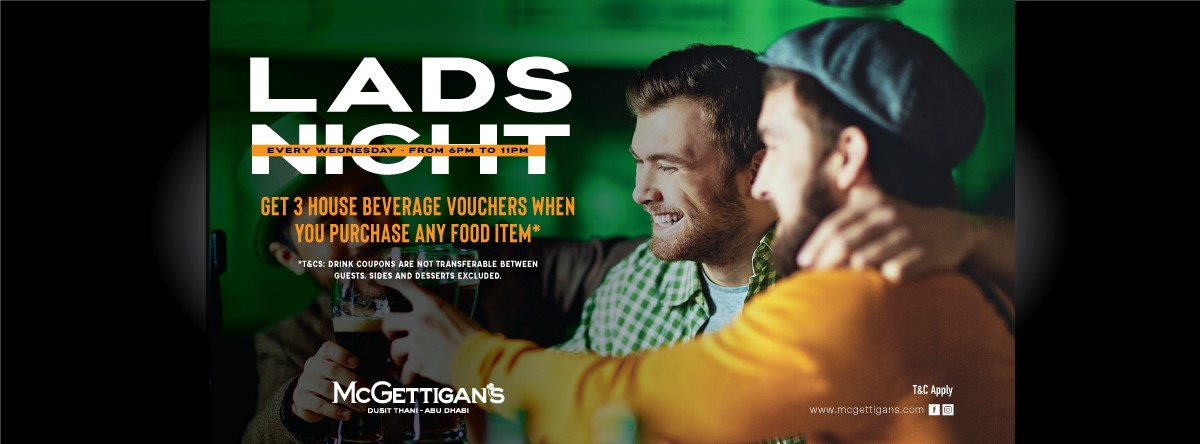 Lads Night @ McGettigan's Dusit Thani