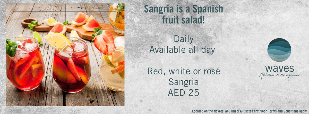 Sangria Is A Spanish Fruit Salad @ Waves Bar & Outdoor Lounge