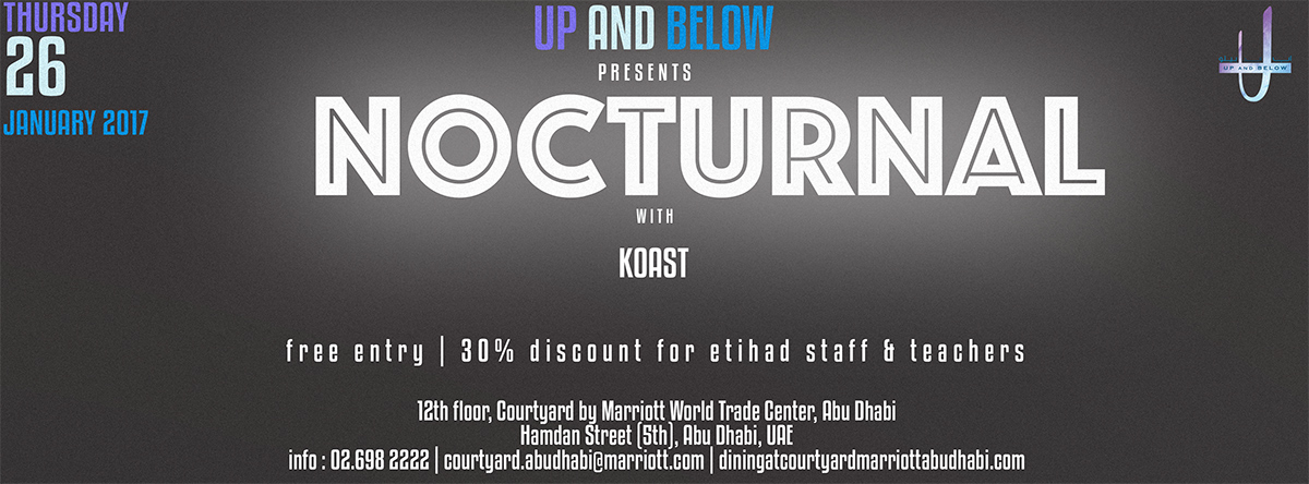 Up and Below presents NOCTURNAL - Second Edition