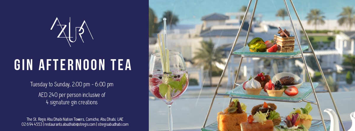 Gin Afternoon Tea @ Azura