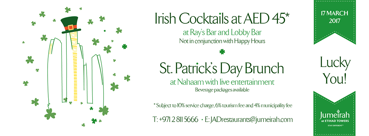 St. Patrick's Day @ Jumeirah at Etihad Towers