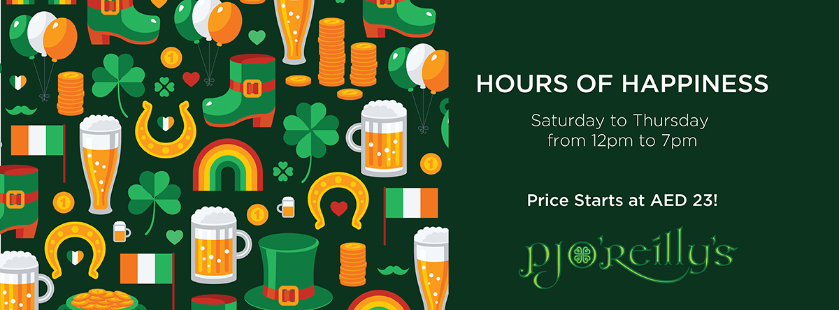 Hours of Happiness @ P.J. O'Reilly's