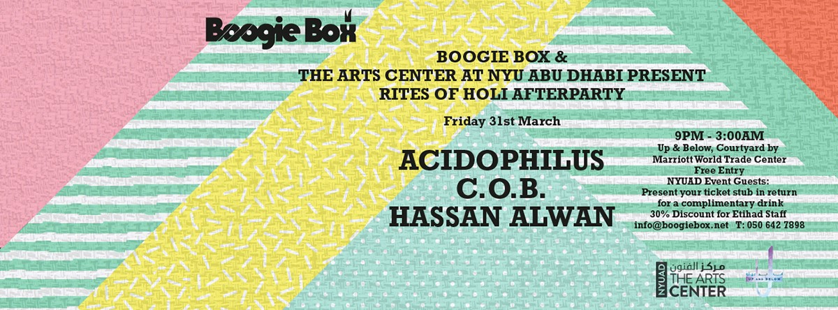 Boogie Box & NYUAD - Rites of Holi Afterparty