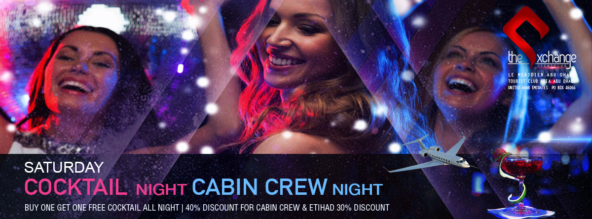 Cocktail & Cabin Crew Night @ The Exchange