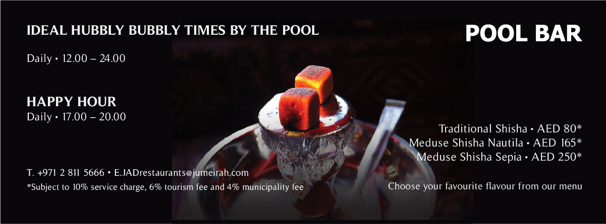 Ideal Hubbly Bubbly times by the pool