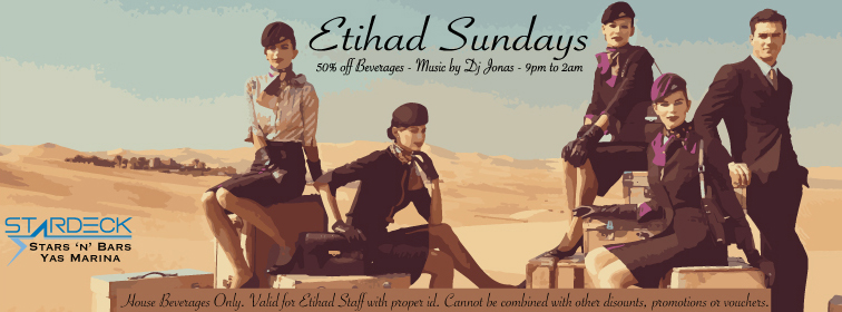 Etihad Sundays @ Stars 'n' Bars