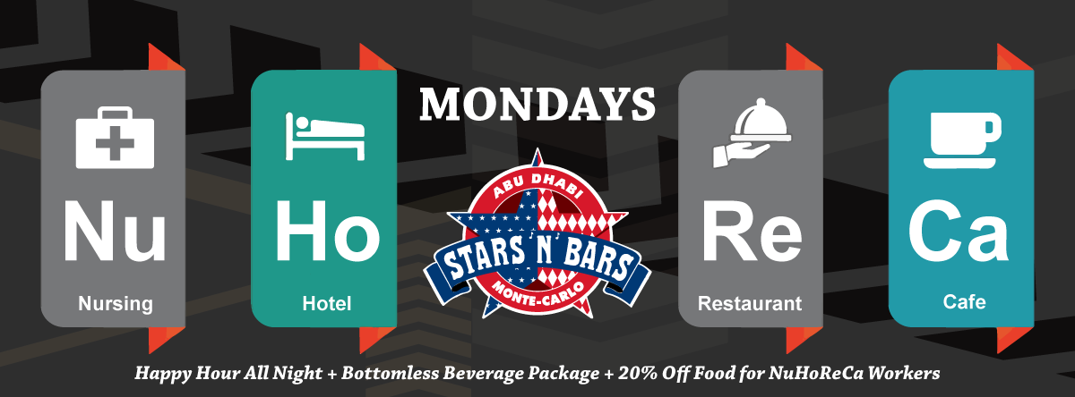 NuHoReCa Mondays - Service Industry Workers Night @ Stars 'n' Bars