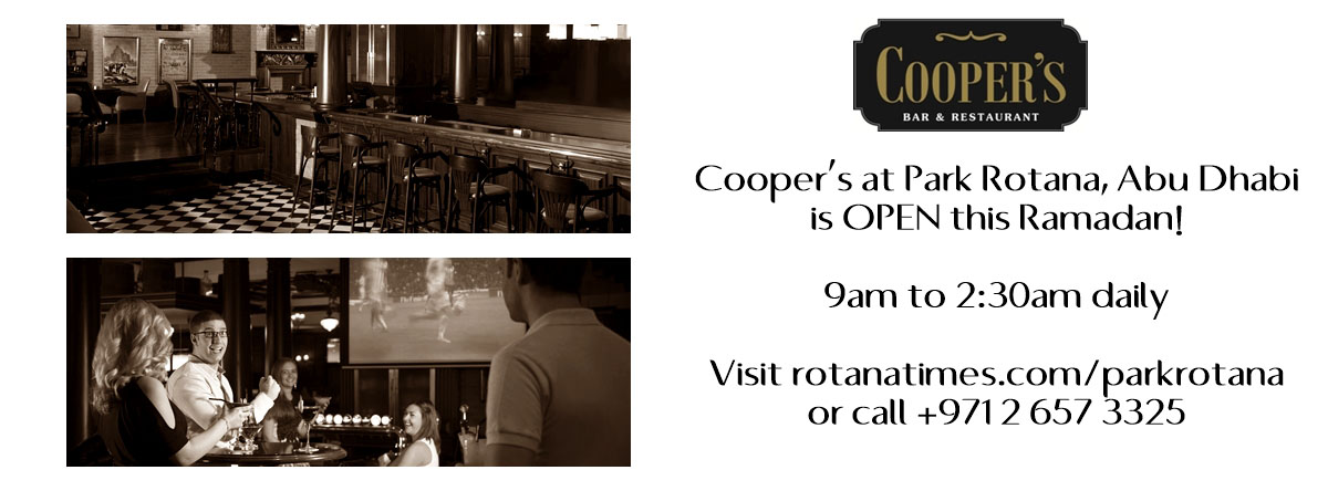 Cooper's at Park Rotana Abu Dhabi is open this Ramadan
