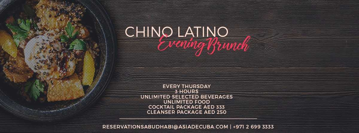 Chino Latino Evening Brunch