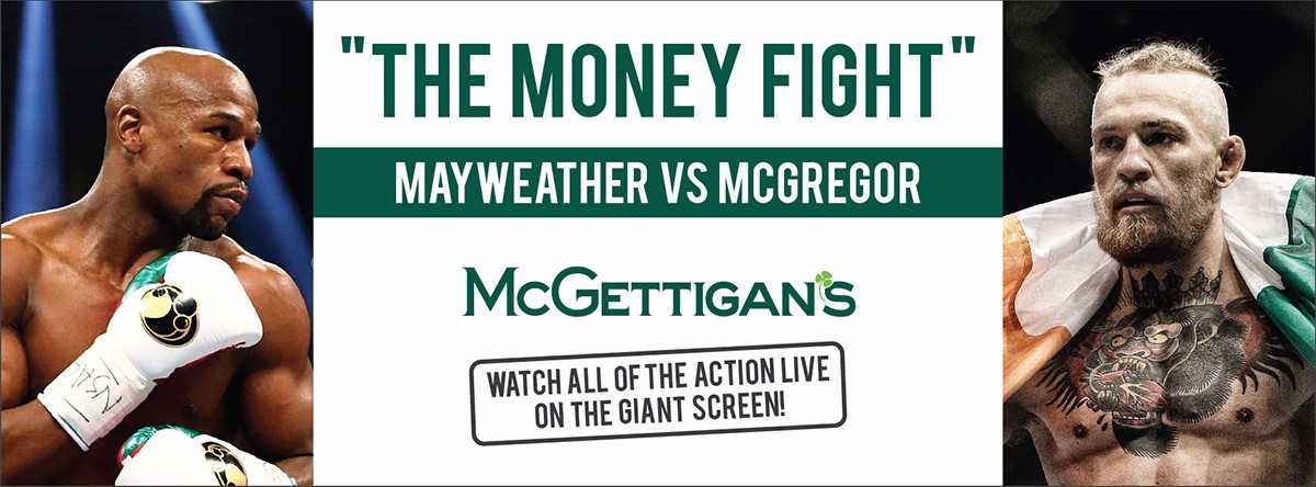 'THE MONEY FIGHT' Mayweather vs McGregor live