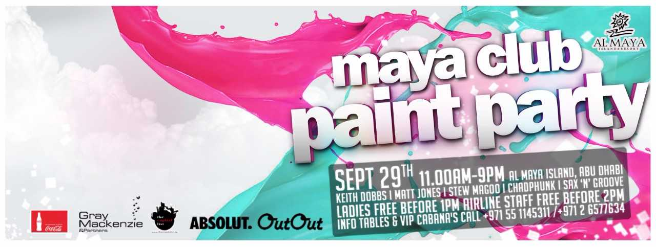 Maya Club PAINT PARTY