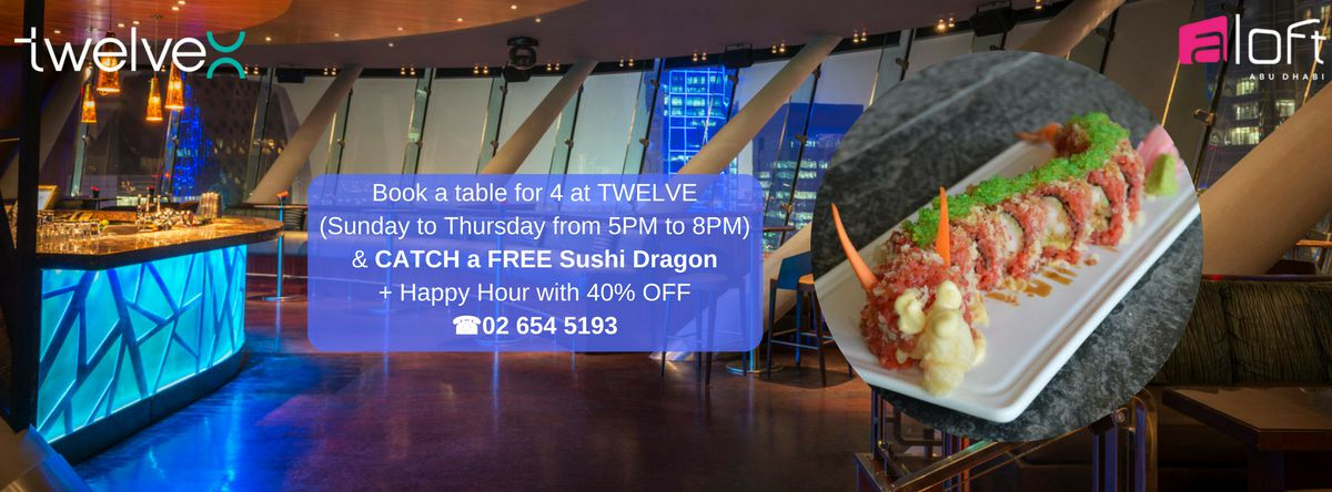 Catch a sushi Dragon @ Aloft!