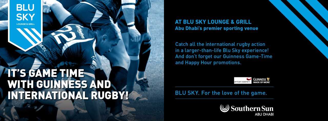 Guinness & International Rugby @ Blu Sky