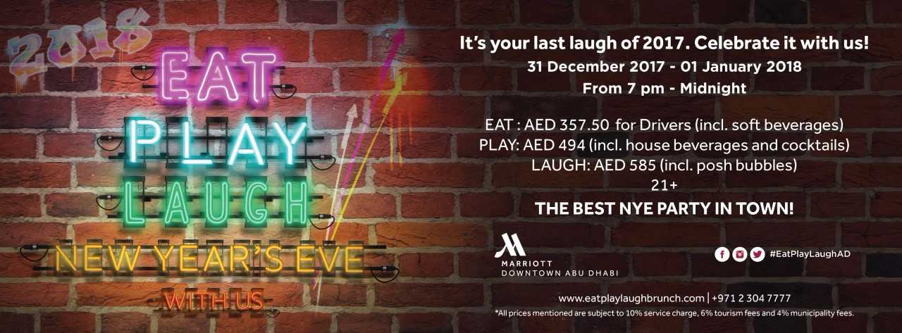 EAT PLAY LAUGH NYE Party @ Marriott