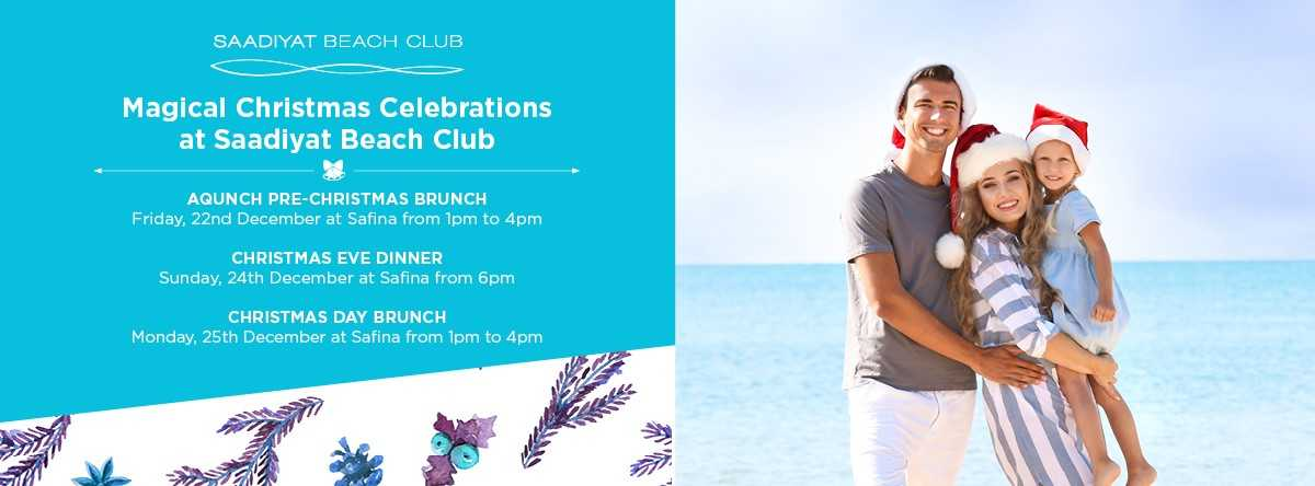Christmas Celebrations @ Saadiyat Beach Club