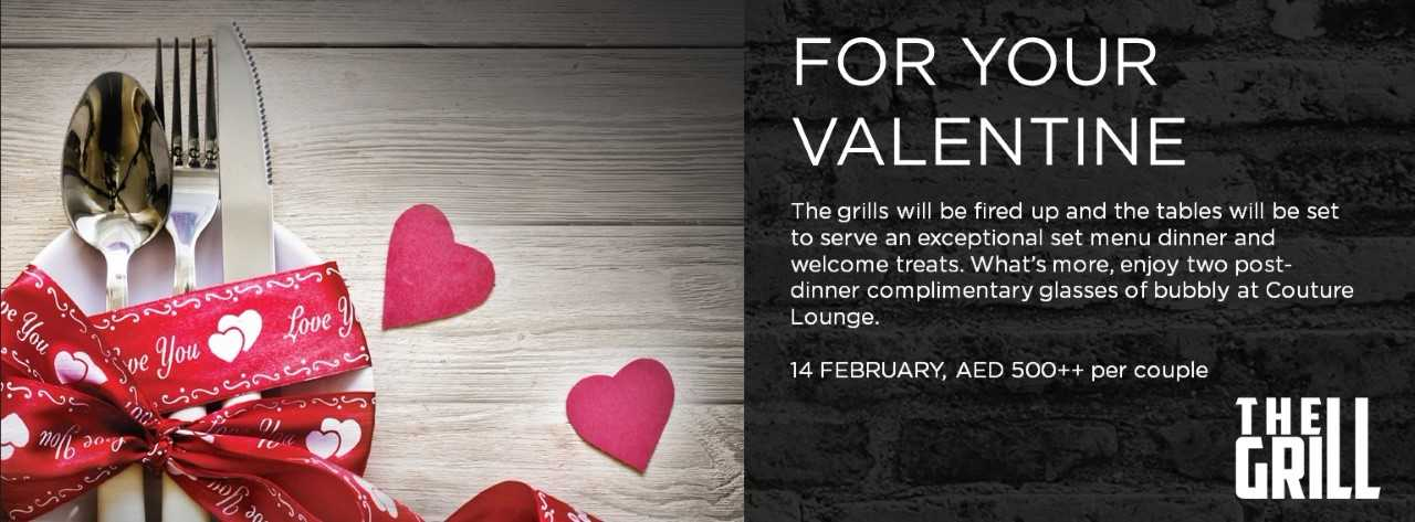 For your Valentine at The Grill