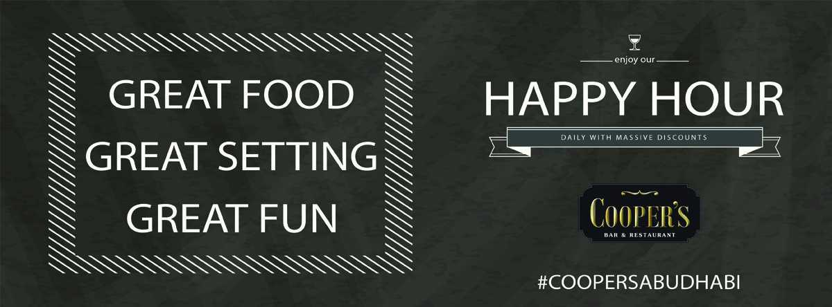 Daily happy hours @ Cooper's