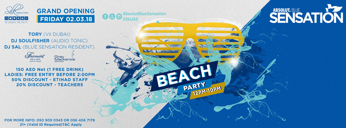Absolut Blue Sensation Beach Party @ Fairmont Hotel