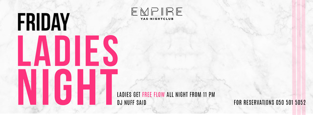 Friday Ladies Night @ Empire