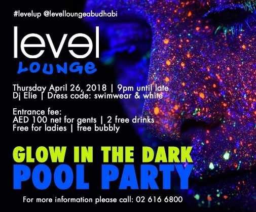 Glow in the Dark Pool Party