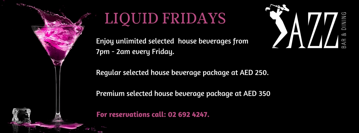 Liquid Fridays @ Jazz Bar