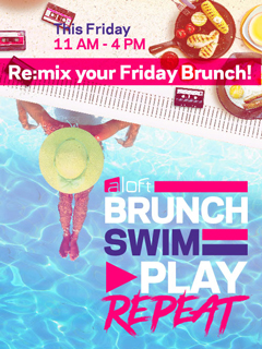 BRUNCH, SWIM, PLAY, REPEAT! BBQ Brunch by the pool