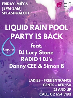 Liquid Rain Pool Party is back!