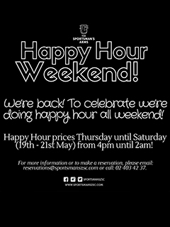 Happy Hour Weekend @ The Sportsman's Arms