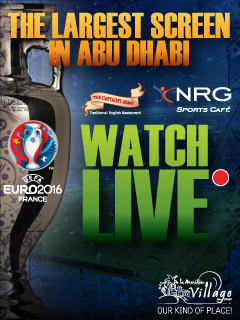 Watch Euro 2016 live on the Largest screen in Abu Dhabi!