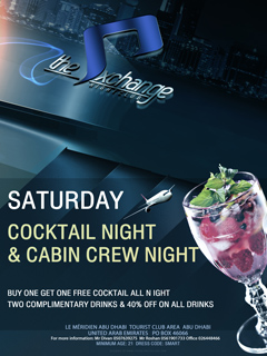 Saturday Cocktail & Cabin Crew Night @ The Exchange