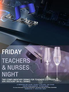 Friday Teachers and Nurses Night @ The Exchange