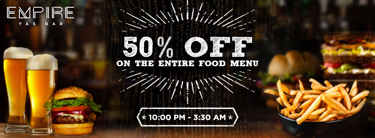 Enjoy 50% OFF @ Empire