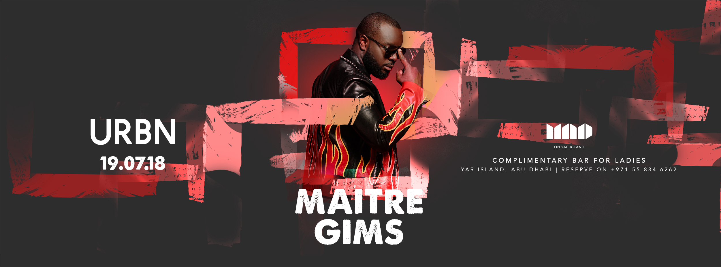 Maitre Gims at Mad on Yas Island