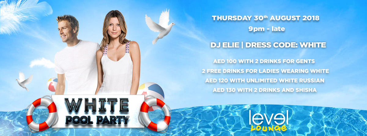 White Pool Party @ Level Lounge