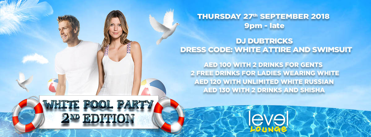 White Pool Party - 2nd Edition @ The Level Lounge