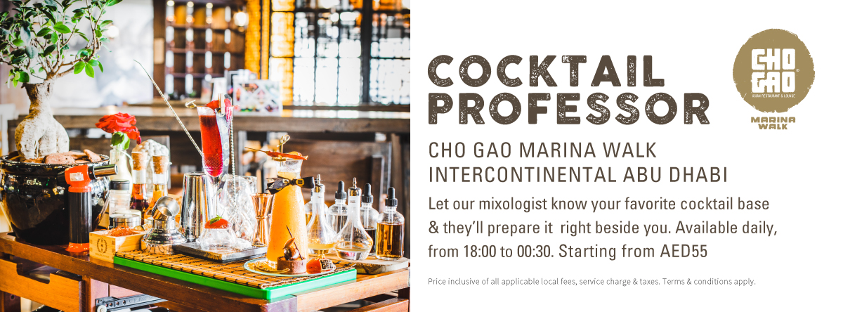 Cocktail Professor @ CHO GAO MARINA WALK