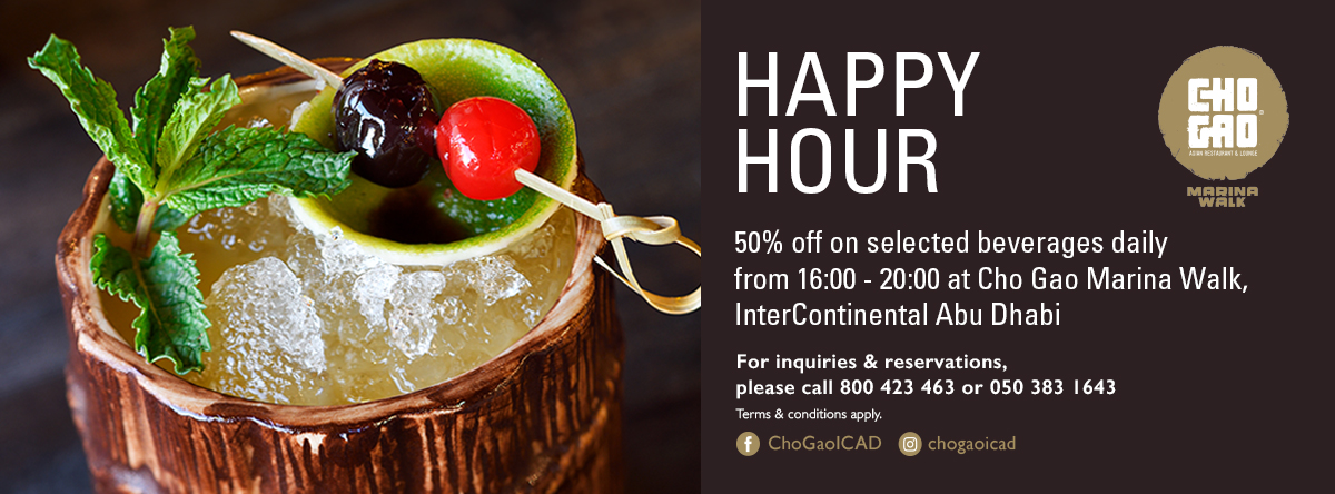 Happy Hour @ Cho Gao - Marina Walk
