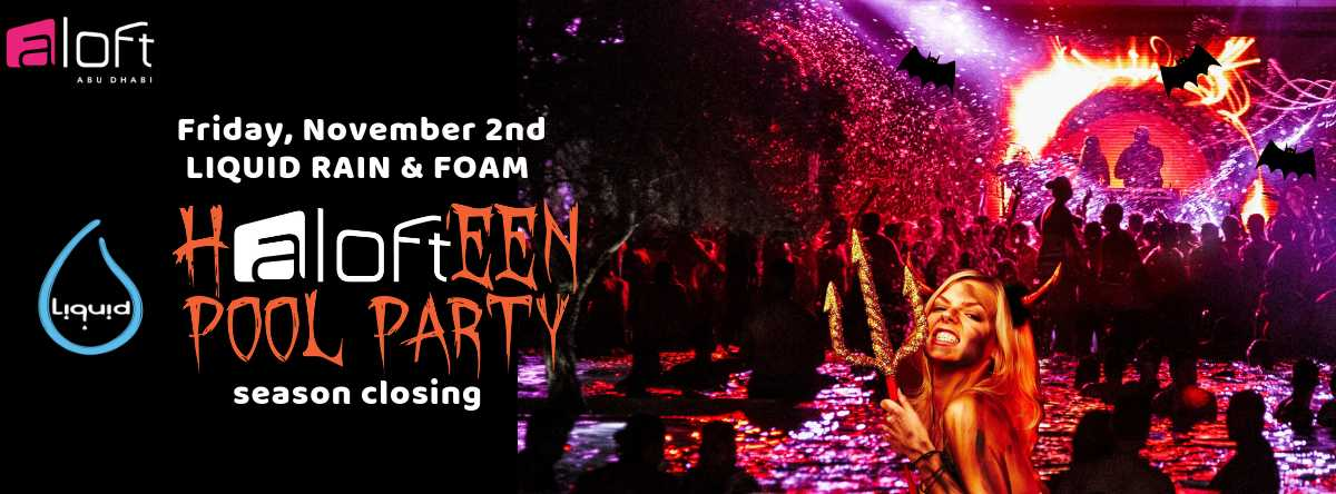 Halloween Liquid Rain & Foam POOL PARTY | Season Closing @ Aloft