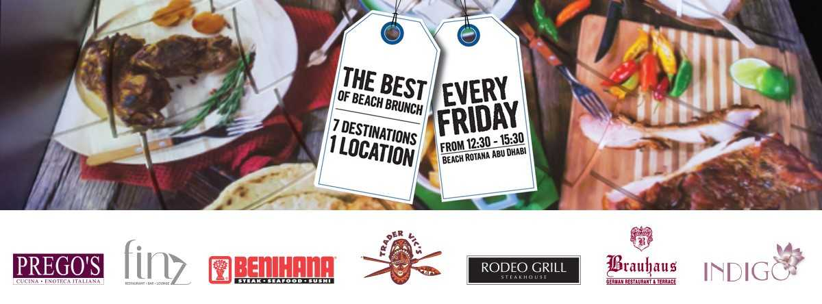 The Best of the Beach Friday Brunch @ Beach Rotana Abu Dhabi