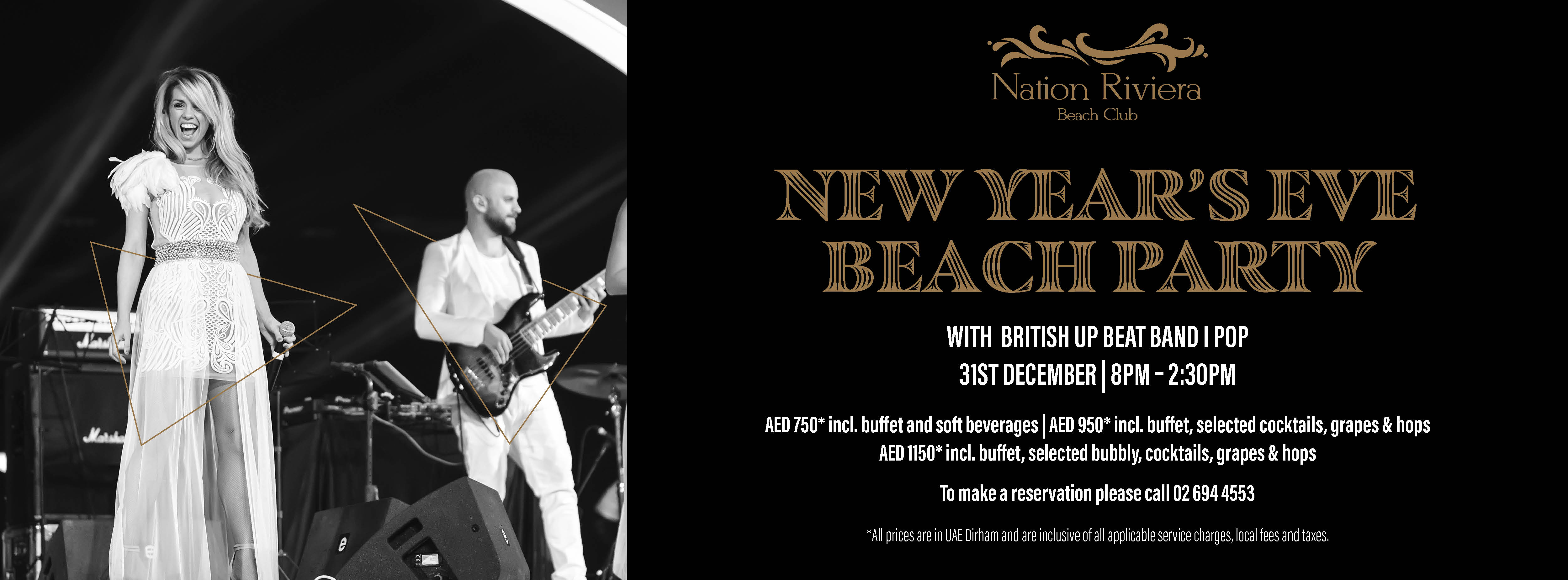 New Year's Eve Beach Party @ Nation Riviera Beach Club