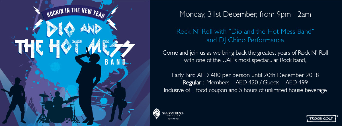 Rockin In The New Year @ Saadiyat Beach Golf Club