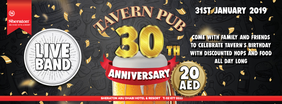 The Tavern Pub celebrating 30th Anniversary