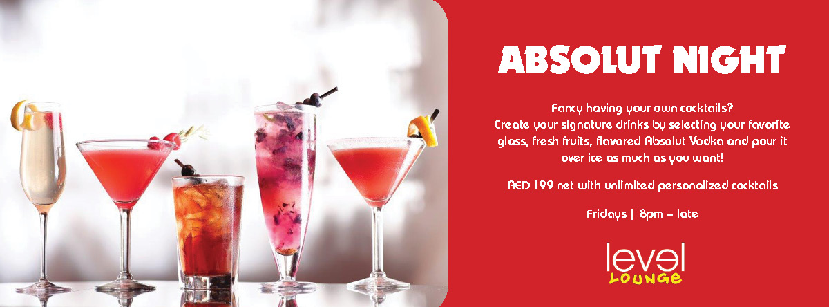 ABSOLUT NIGHT @ Level Lounge