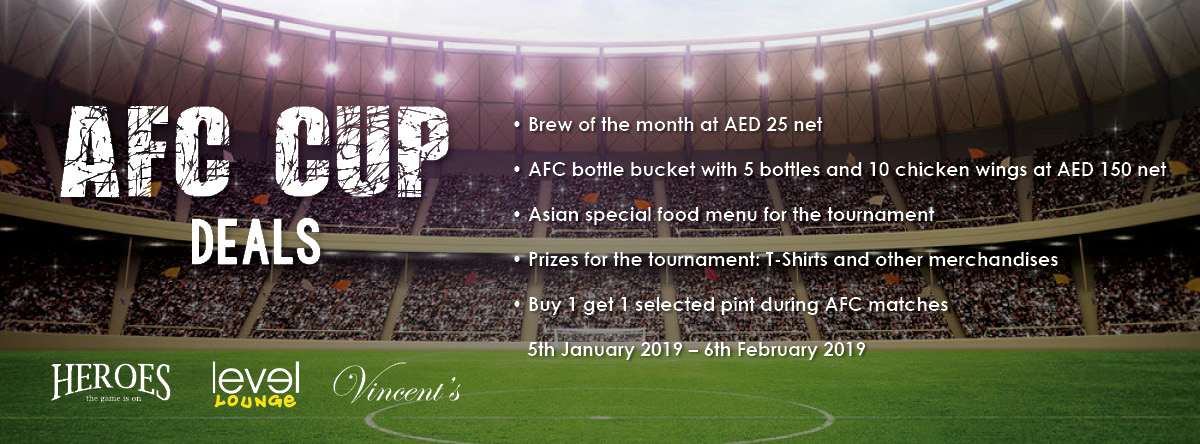 AFC CUP DEALS @ Crowne Plaza