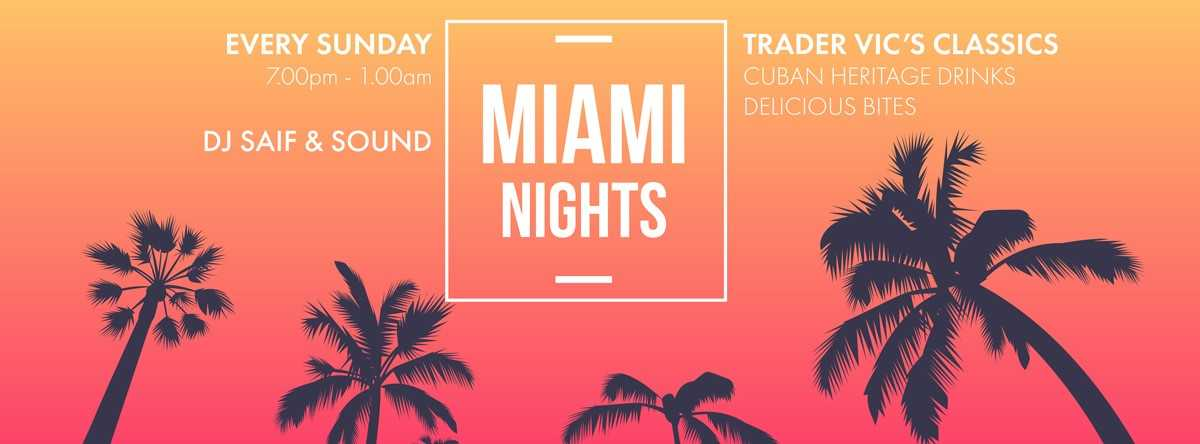 Miami Nights @ Beach Rotana Abu Dhabi