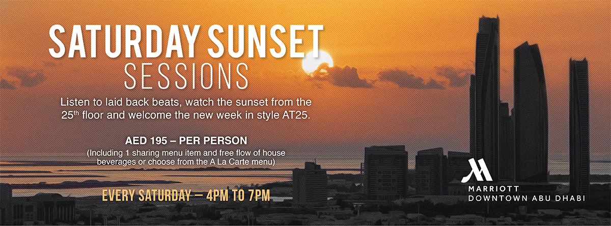 Saturday Sunset Sessions @ Marriott Downtown Abu Dabi