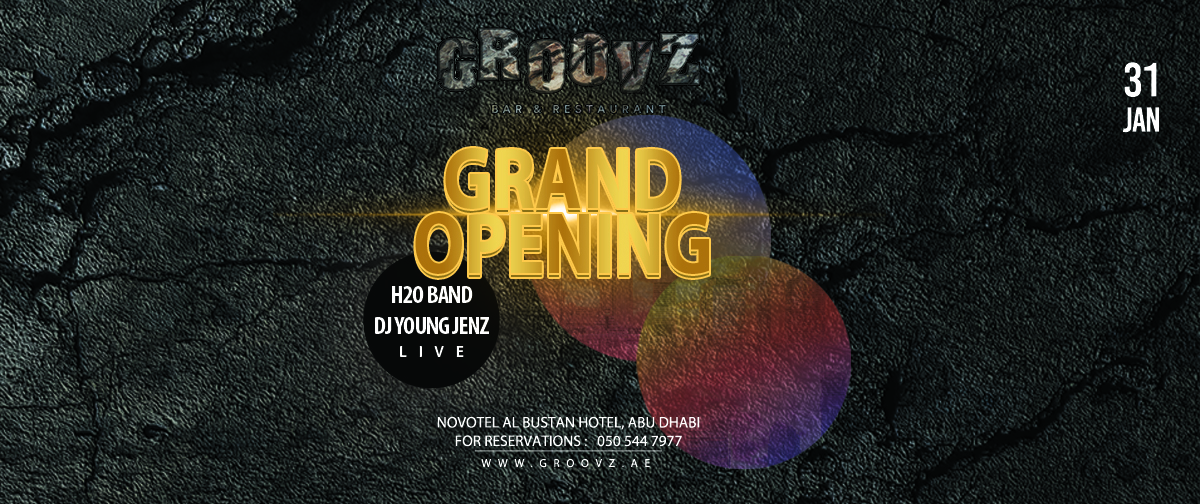 Groovz Bar & Restaurant - Grand Opening