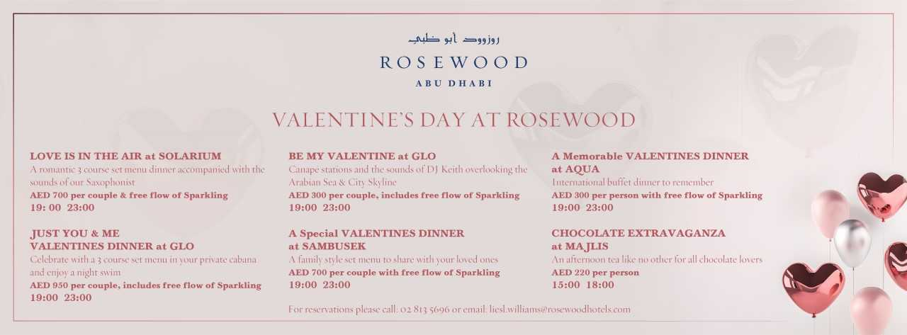 Valentine's Day @ Rosewood Abu Dhabi